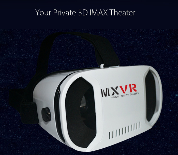 MX VR Virtual Reality 3D Glasses with Bluetooth Remote Controller for 4 - 6 inch Mobile Phone