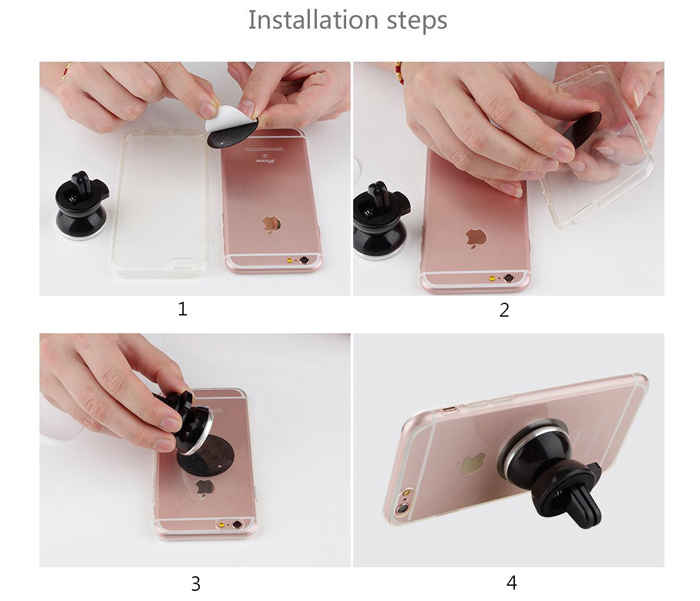 ENKAY Hat - Prince Magnetic Mobile Stand Car Vent Mounted Phone Bracket with 360 Degree Rotation Adjustment