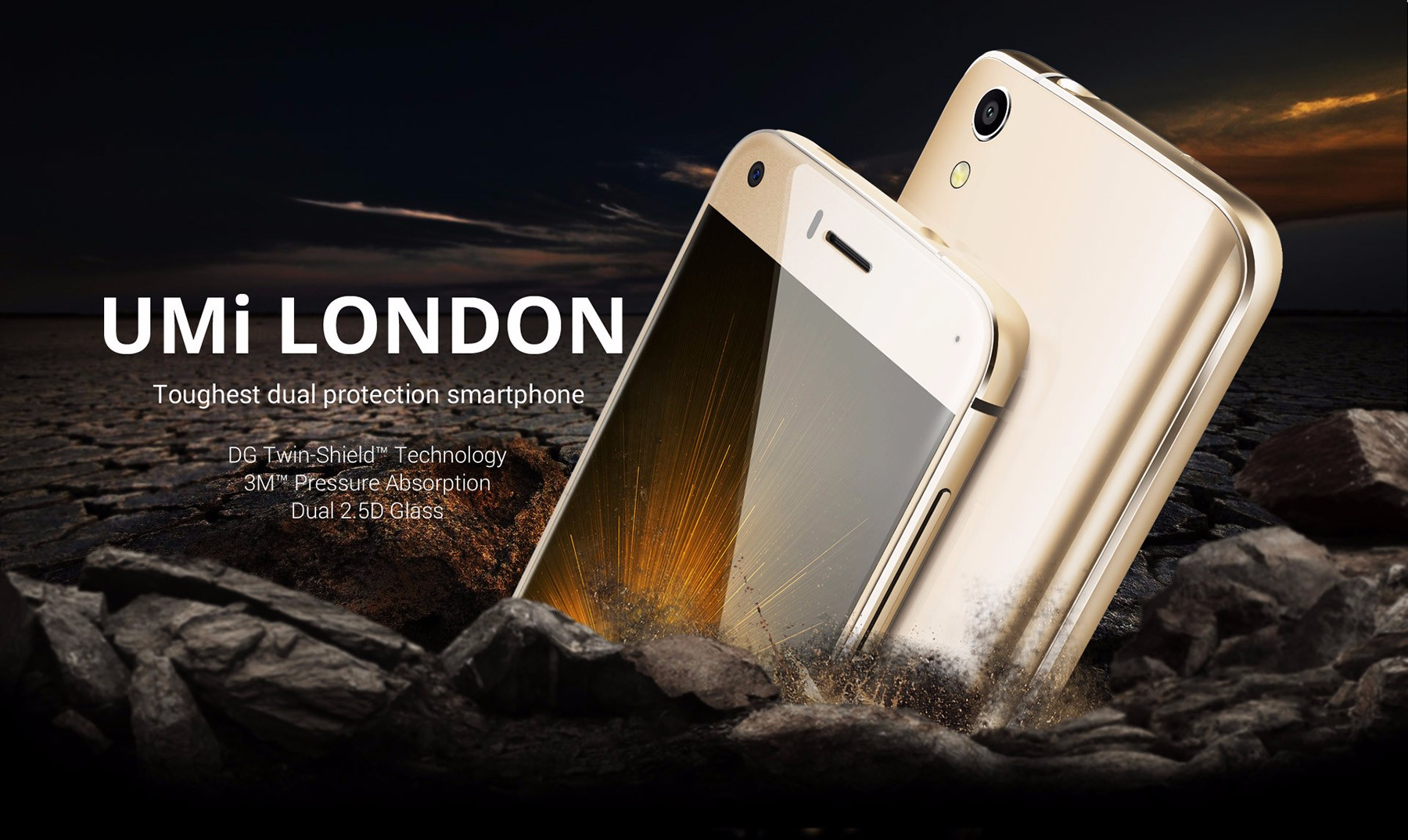 UMi LONDON Rugged Phone Android 6.0 5.0 inch HD Screen 3G Smartphone MTK6580 Quad Core 1.3GHz 1GB RAM 8GB ROM Gravity Sensor Accelerometer