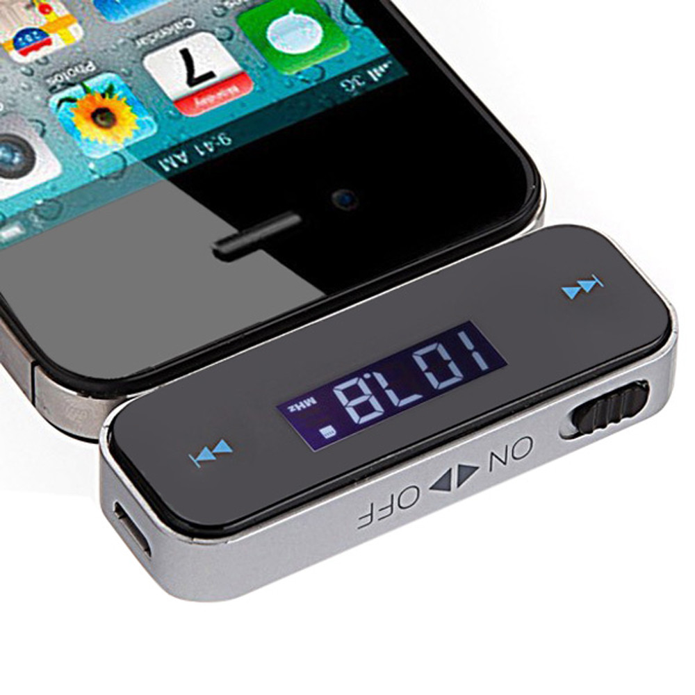 Wireless 3.5mm Jack Car FM Transmitter for iPod / iPhone 3G / 3GS / 4S / MP3 / MP4