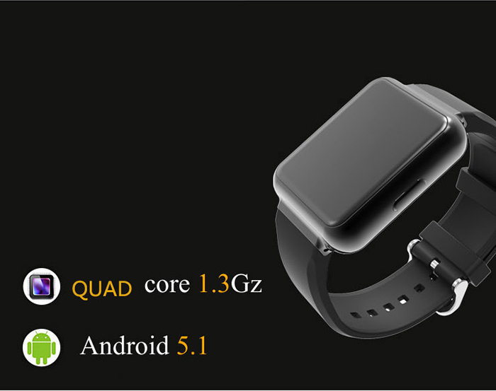 FINOW Q1 Android 5.1 1.54 inch 3G Smartwatch Phone MTK6580 1.3GHz Quad Core 512MB RAM 4GB ROM Pedometer Gravity Sensor