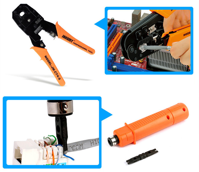 JAKEMY JM - P15 17 in 1 Professional Soldering Iron Suit for Networking Issue