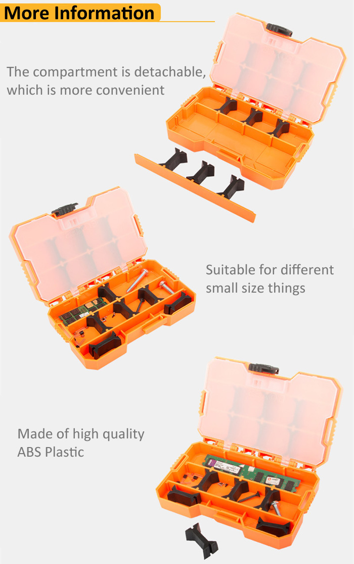 JAKEMY JM - Z14 Plastic Storage Box for Craft Metal Electronic Components