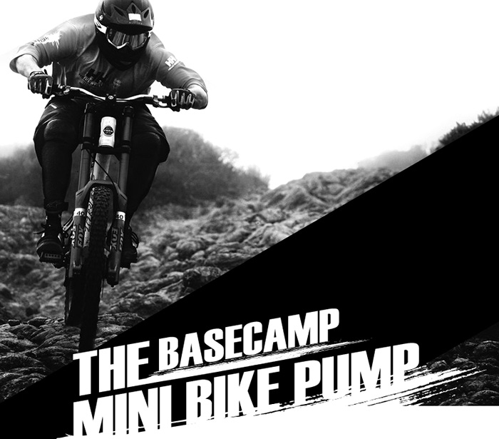 BASECAMP BC - 752 Portable Bicycle Pump for Outdoor Cycling