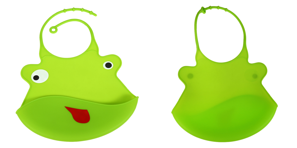 Baby Kid Silicone Cartoon Bib Water Resistant Feeding Saliva Accessories