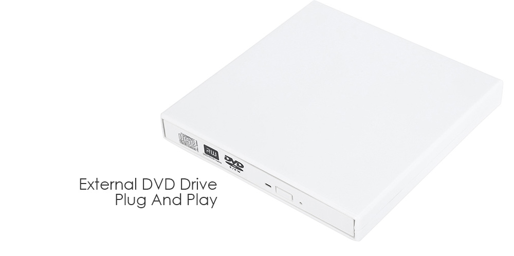 FineSource PCD20 USB 2.0 External DVD Drive for Windows / Mac System