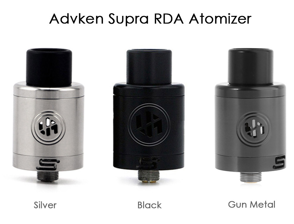 Original Advken Supra Stainless Steel RDA Rebuildable Dripping Atomizer with Dual Post Deck for E Cigarette