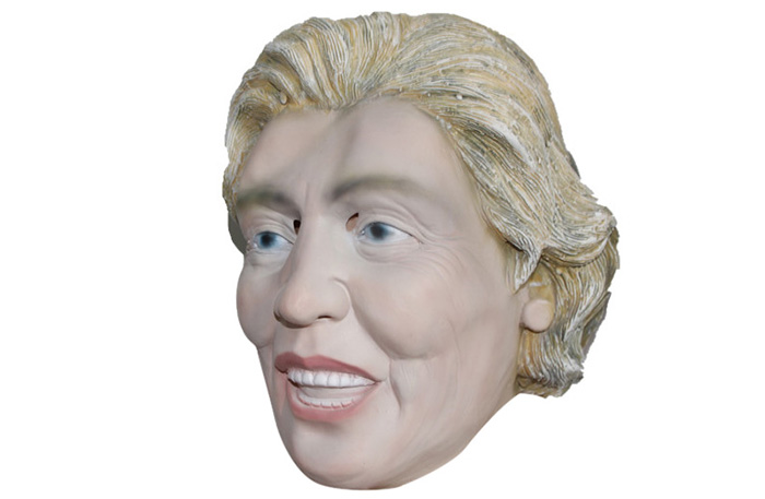 American Famous Female President Style Look Head Latex Rubber Mask