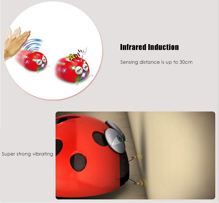 1pc Plastic Infrared Induction Insect Spanking Worm Vibration Toy for Children