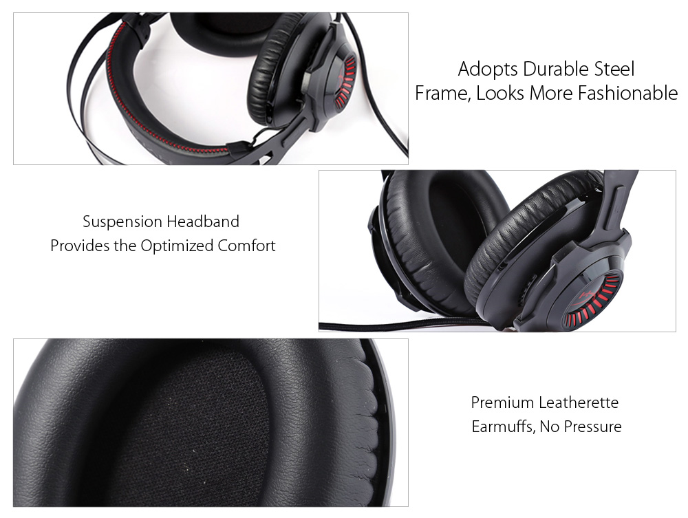 Kingston HYPERX Cloud Revolver KHX - HSCR - BK - AS Professional Gaming Headsets Suspension Headband Noise Canceling with Mic