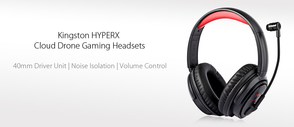 Kingston HYPERX Cloud Drone KHX - HSCD - BK - AS Professional Gaming Headsets Noise Canceling with Mic Volume Control