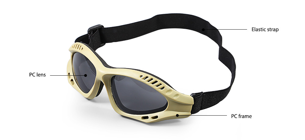 JINJULI Protective Eyewear UV-resistant Windproof Goggles for Outdoor Sports