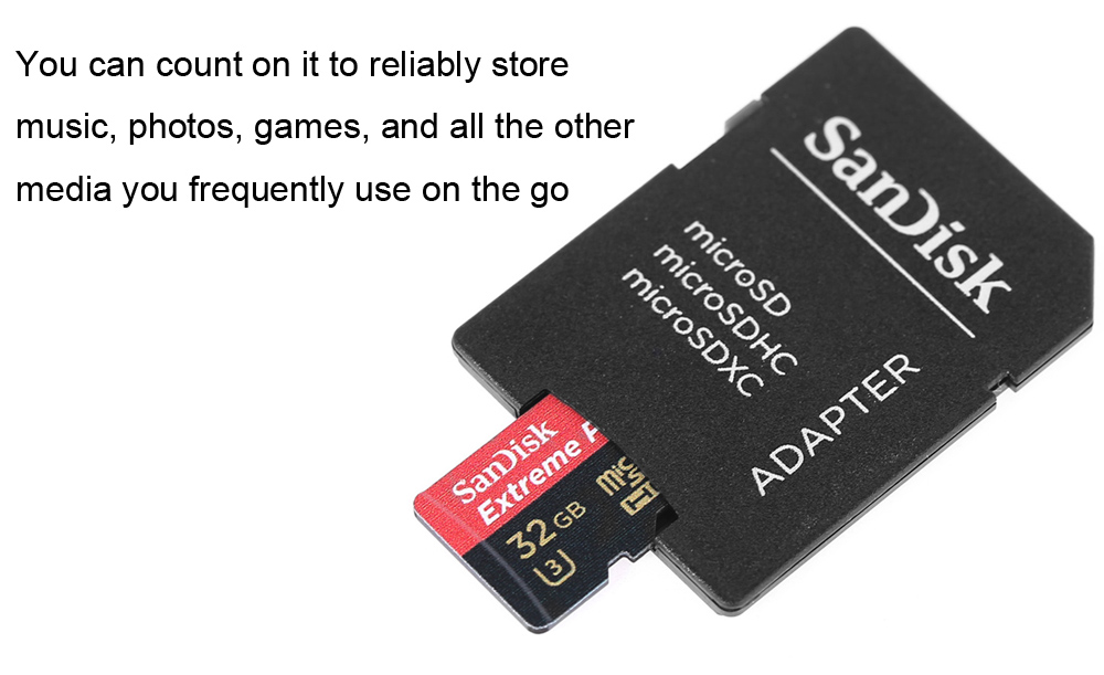 SanDisk Extreme PRO 32GB UHS-I / U3 Micro SDXC Memory Card with Adapter