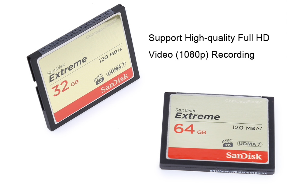 SanDisk Extreme 800x 32GB High Speed 120MB/s CompactFlash Card