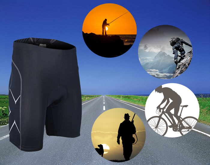 Arsuxeo 55510 Tight Breathable Cycling Shorts with Silicone Pad