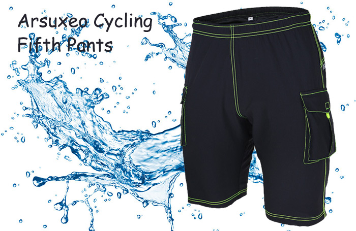 Arsuxeo DH - 1 Quick-dry Outdoor Leisure Breathable Male Cycling Fifth Pants