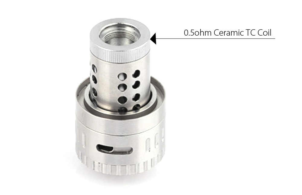 Original Kangxin Inoy 5ml Tank Atomizer Clearomizer with 0.5ohm Ceramic TC Coil / Top Filling Design for E Cigarette