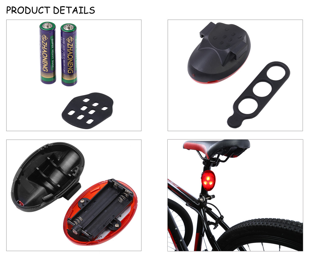 GACIRON W04 3 LED Intelligent Bicycle Tail Light for Night Cycling