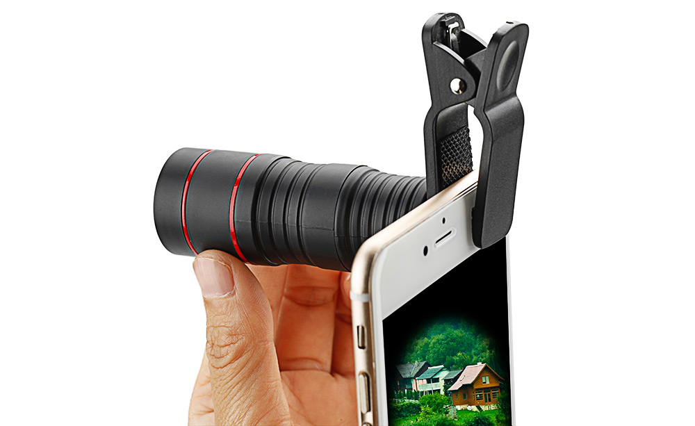 Roof BAK - 4 Prism 8X HD Monocular Mini Mobile Phone Accessory with Clip