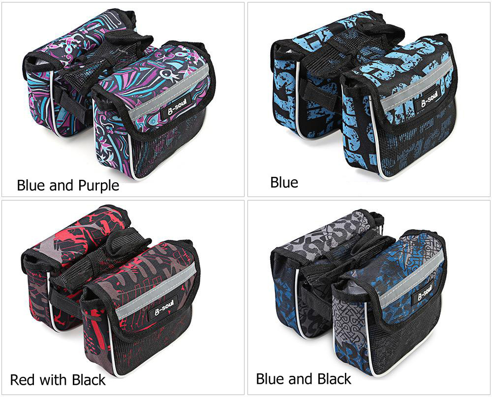B - SOUL YA049 Bicycle Frame Panniers for Smartphone