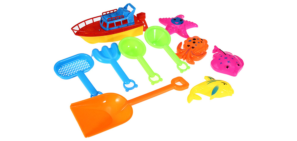 10pcs / Set Sand Beach Tool Seaside Bucket Outdoor Sport Toy for Kid