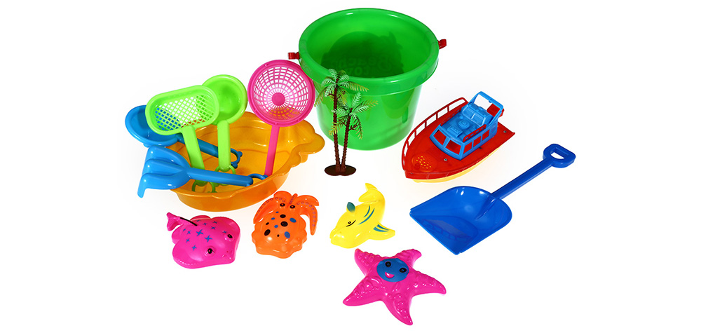 14pcs / Set Sand Beach Tool Seaside Bucket Outdoor Sport Toy for Kid