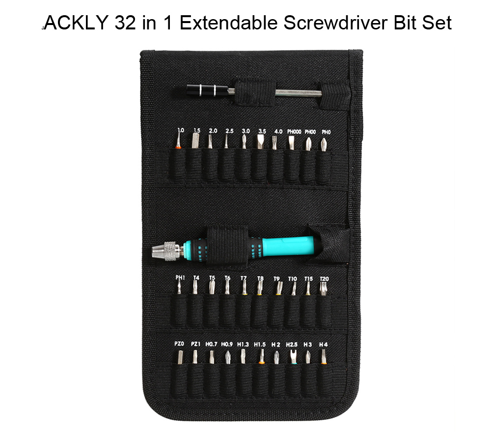 JACKLY 32 in 1 Extendable Precise Driver Pocket Set for HT71 / 0163