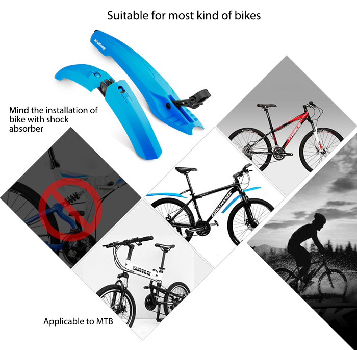 Coolchange 25008 PC 26 Inch Fashionable Quick Release Bike Mudguard