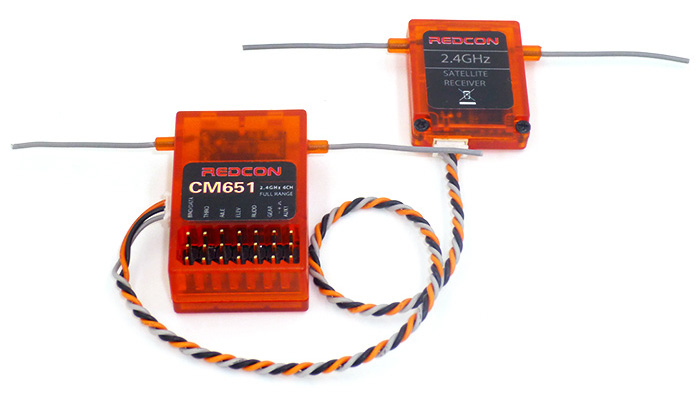 REDCON CM651 2.4G 6CH DSM2 DSMX Compatible Receiver with Satellite