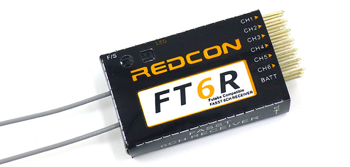 REDCON FT6R FASST 2.4G 6CH HV 500mA Receiver Spare Part