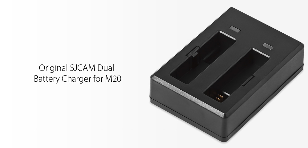 Original SJCAM Dual Charger Battery Charging Dock for M20