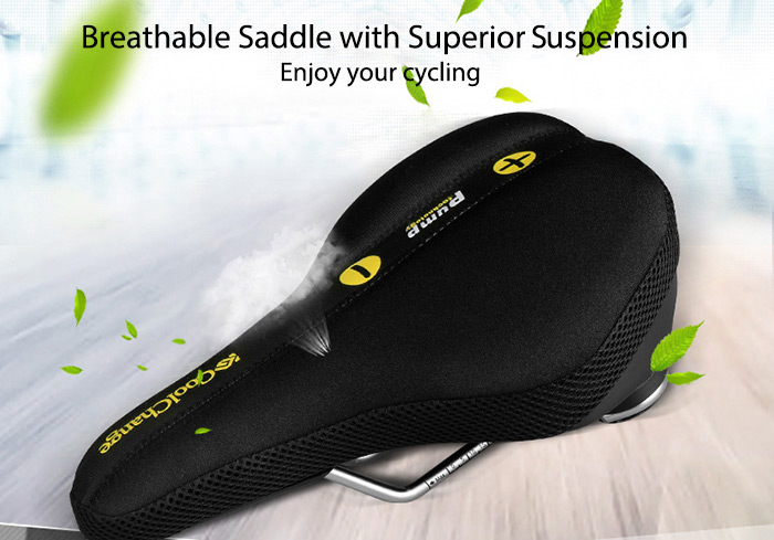 Coolchange 10013 Adjustable Bike Saddle with Airbag