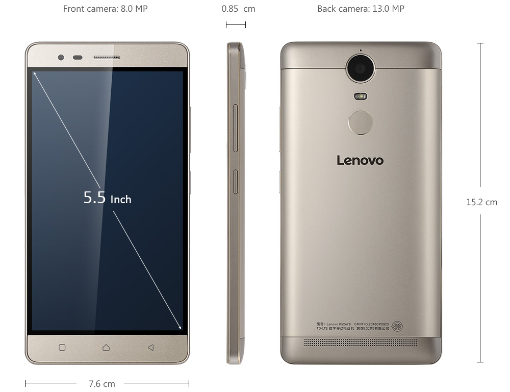 Lenovo K5 Note 4G Screenshot Size