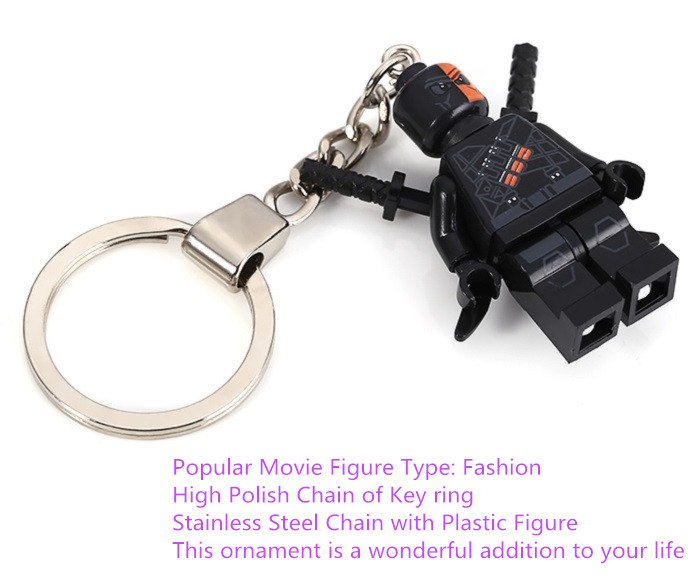 Soldier Shape Hanging Pendant Plastic Key Chain Movie Product Bag Decor - 3.14 inch
