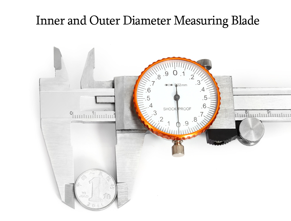 Stainless Steel Vernier Caliper 150mm with Shockproof Watch Dial