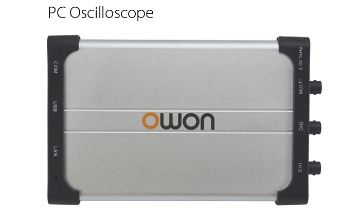 OWON VDS1022 PC Oscilloscope 25MHz 100MS/s 5K Record Length