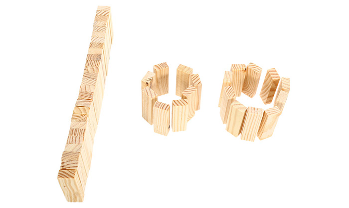 Pile Stacked High Brick Toy for Kid Education - 48pcs / set