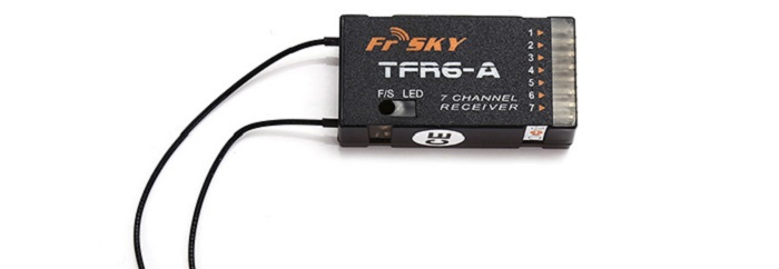 FrSky TFR6 - A 2.4G 7CH Receiver Compatible with Futaba FASST Transmitter