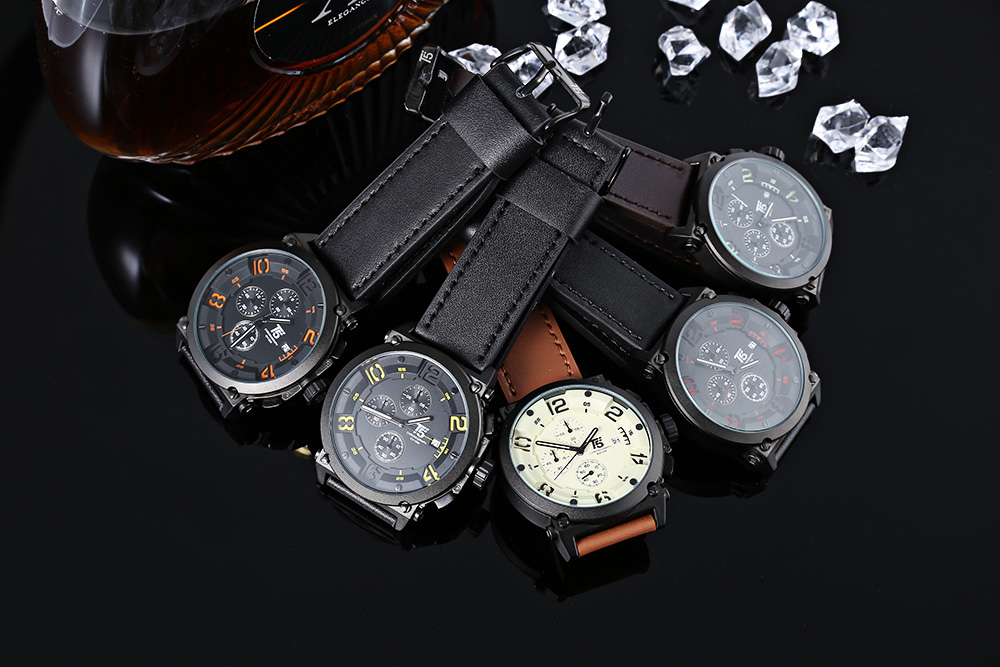 T5 H3434G Casual Male Quartz Watch with Working Sub-dial