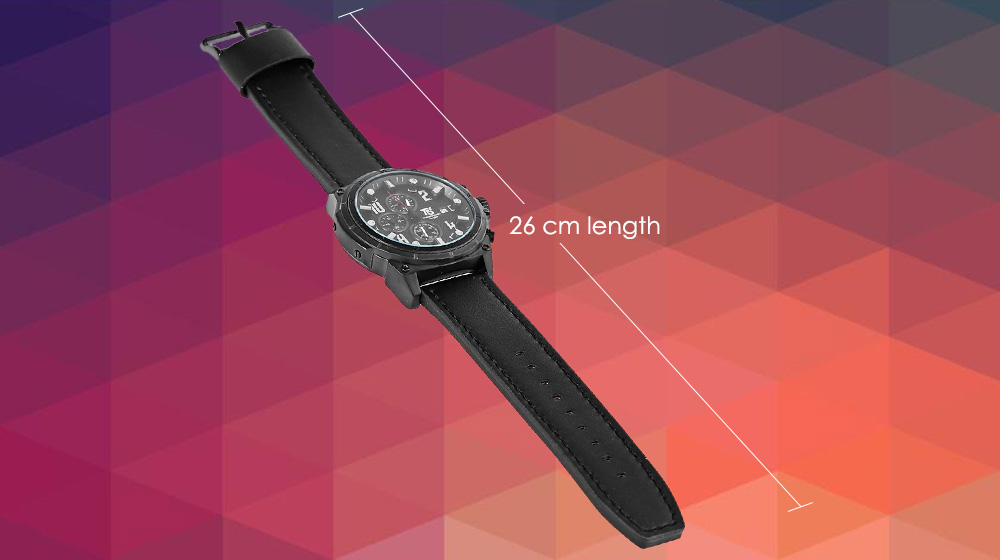 T5 H3436G Casual Male Quartz Watch with Working Sub-dial Calendar
