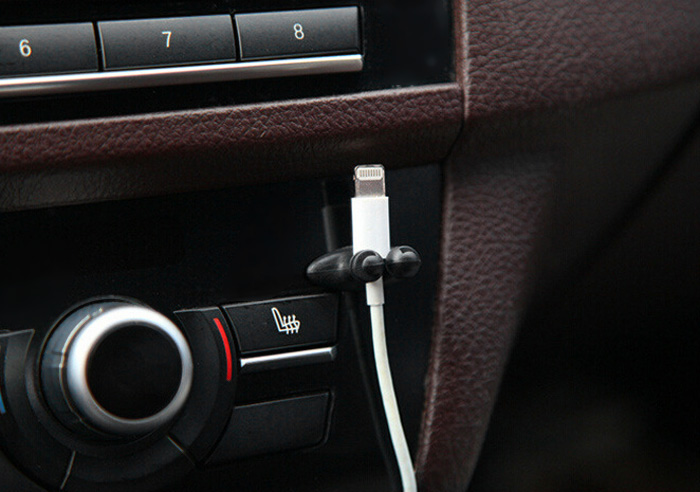 WY - 47 8PCS Adhesive Car Charger Line Multi-function Clasp Clamp Headphone USB Cable Clip