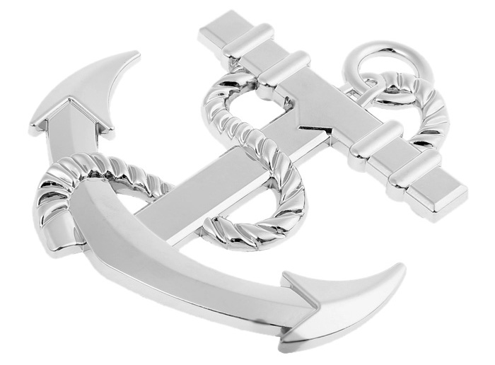 WY - 022 Stainless Steel 3D Car Sticker Metal Grille Badge Emblem Decal