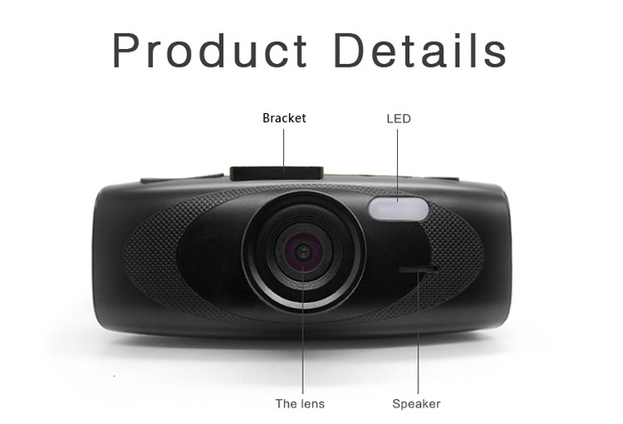G1W - HC - T651C 1080P Full HD 140 Degree Wide Angle Lens 2.7 inch TFT Screen Safe Capacitor Car DVR Dash Cam Video Recorder Support AV Out LED Fill-in Light