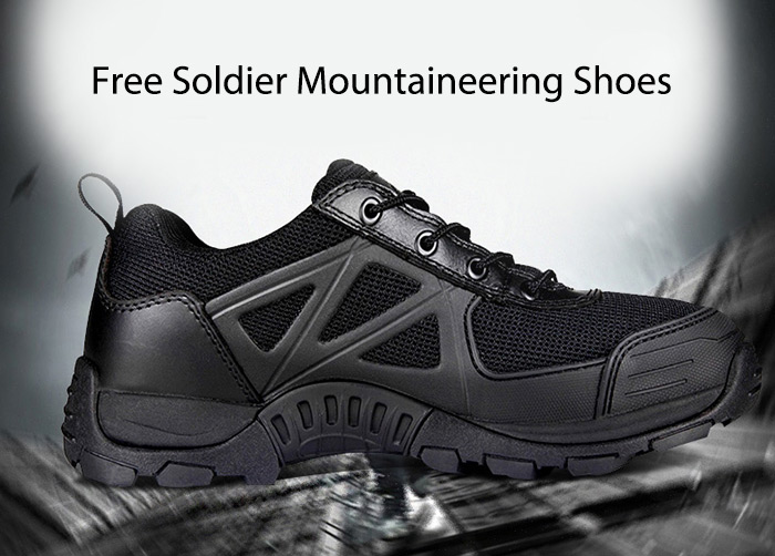 Free Soldier Breathable Upper Mountaineering Shoes for Men