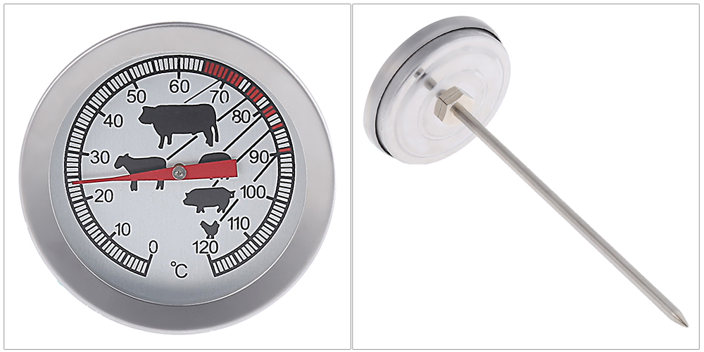 Food Meat BBQ Temperature Sensor Prober Cooking Thermometer 0 - 120 Degree