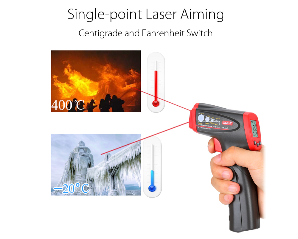 UNI - T UT300C Non-contact Infrared Laser Thermometer Handhold Test Device