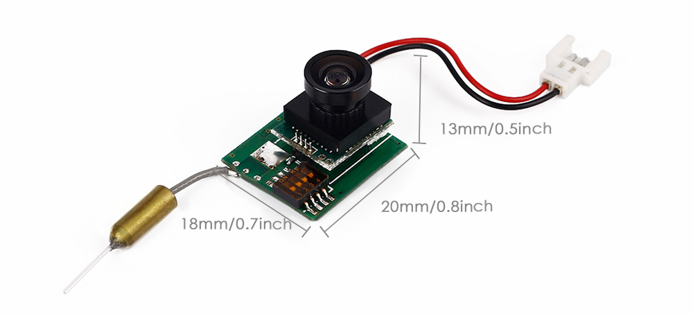 600TVL 170 Degree Camera + 5.8G 8CH 200mW Video Transmitter One machine Accessory for Hubsan X4 107C RC Drone