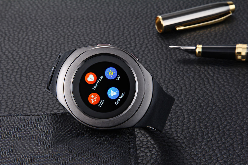 LYW9 1.3 inch Round Screen Smartwatch Phone MTK6261 Pedometer Heart Rate Monitor Sleep Monitoring