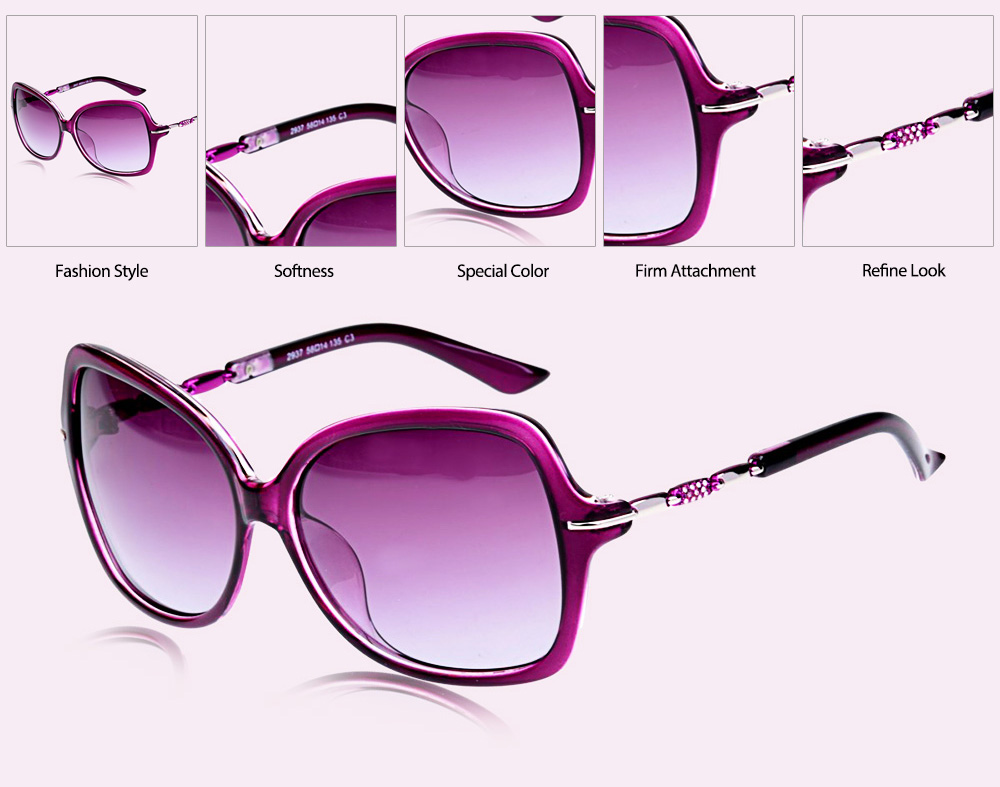 Senlan 2937P3 Polarized Sunglasses with Purple Frame