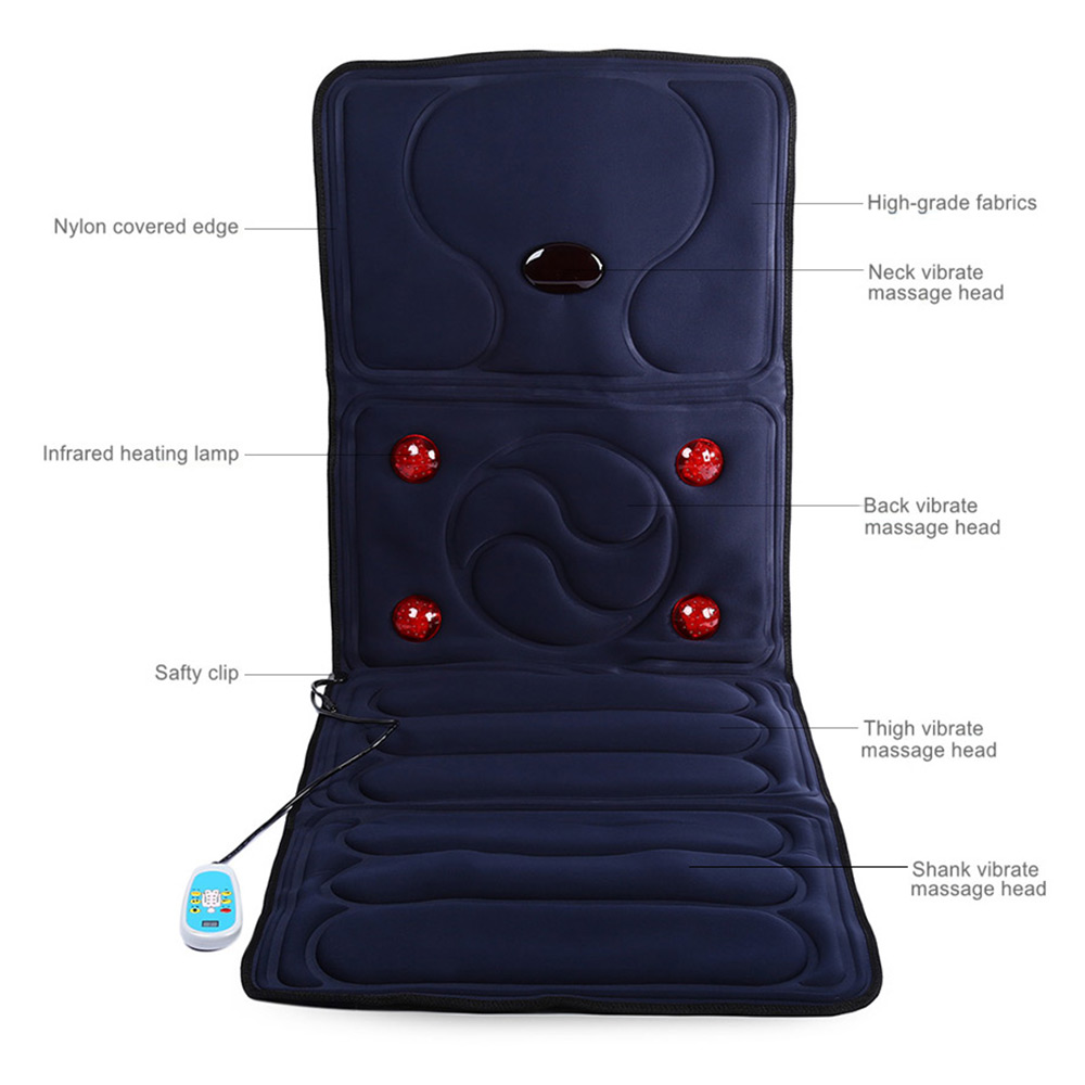 Multi-functional Collapsible Full-body Massage Mattress Electric IR Vibrating Cushion